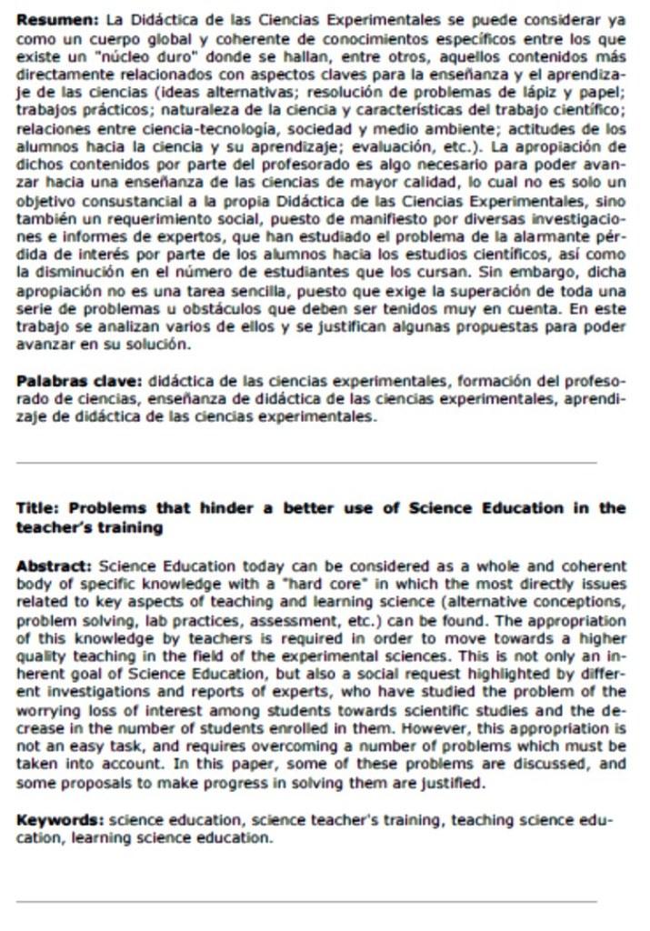 diáctica ciencias y formación profesorado